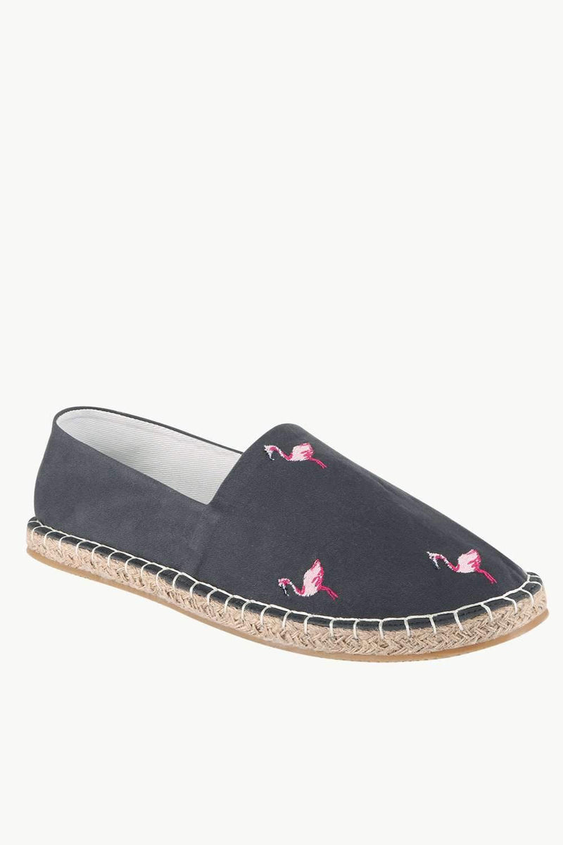 Mens Swan Embroidered Espadrilles
