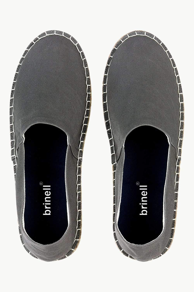 Men's Charcoal Solid Espadrilles