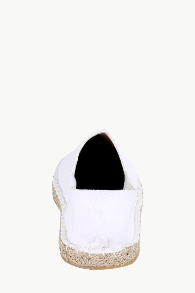 Men's White Solid Espadrilles