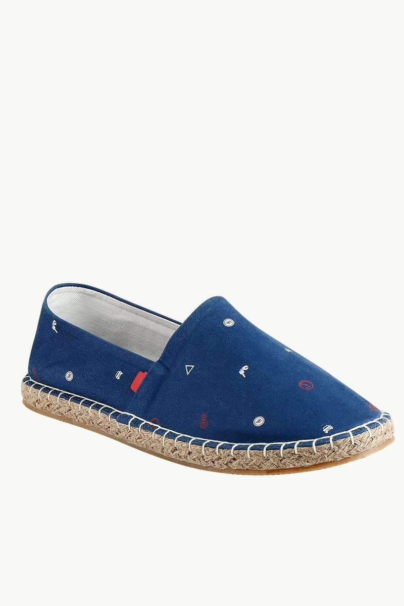 Men's Race Print Navy Espadrilles