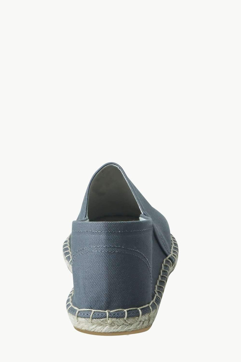 Men's Stone Grey Canvas Basque Espadrilles