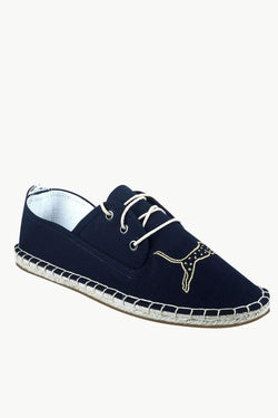 Men's Animal Patch Lace-Up Espadrilles