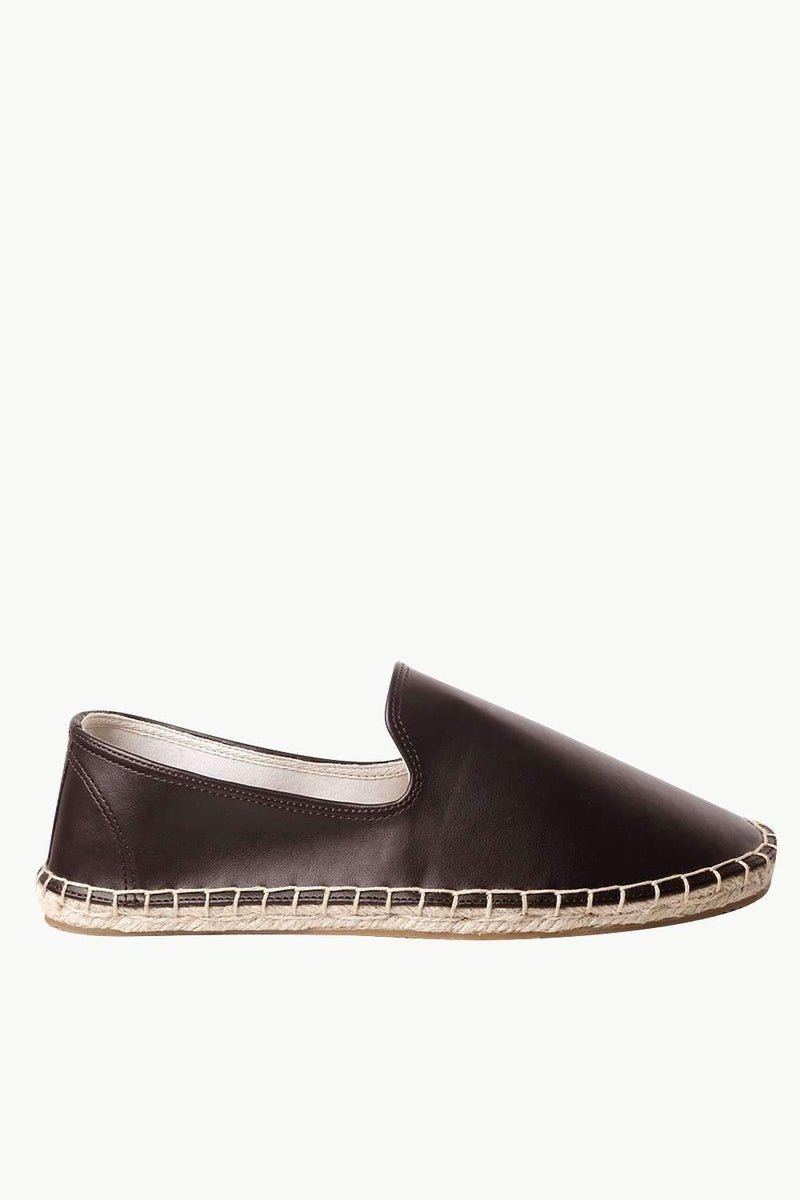 Men's Brown Faux Leather Espadrilles