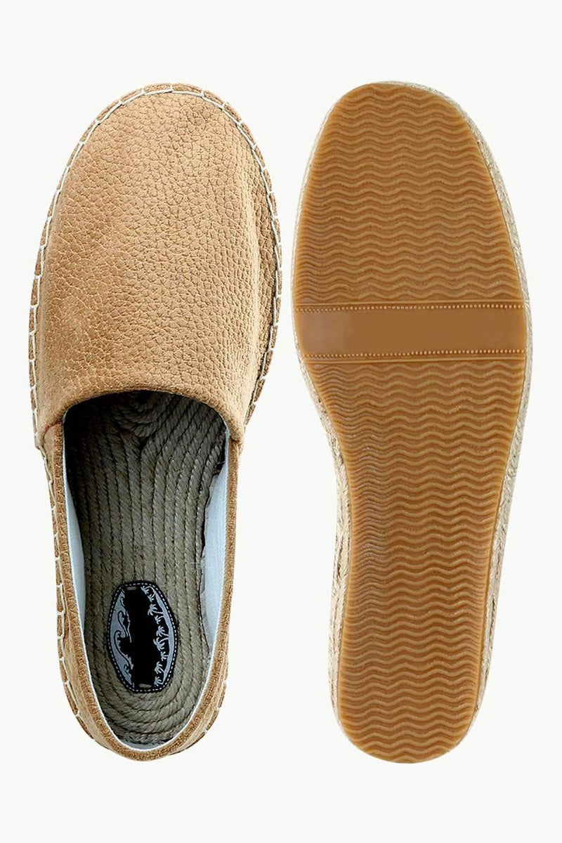 Men's Suede Tan Espadrilles