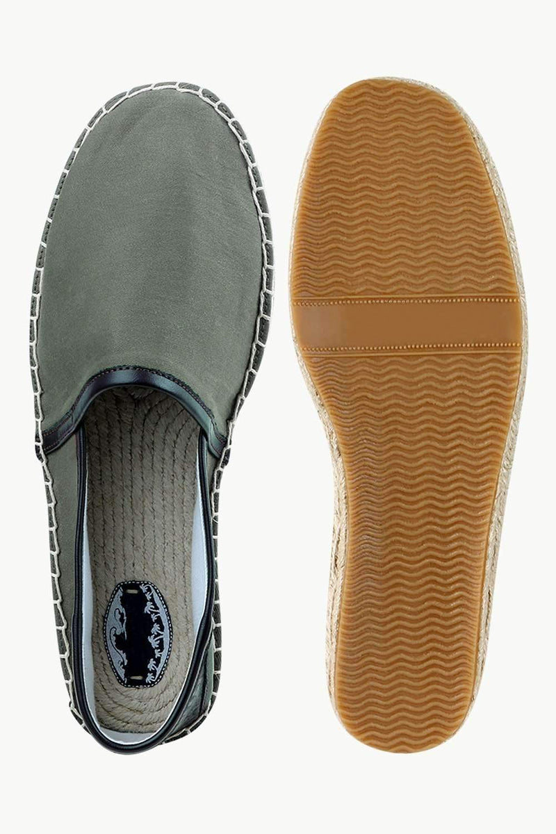 Men's Military Style Canvas Espadrilles
