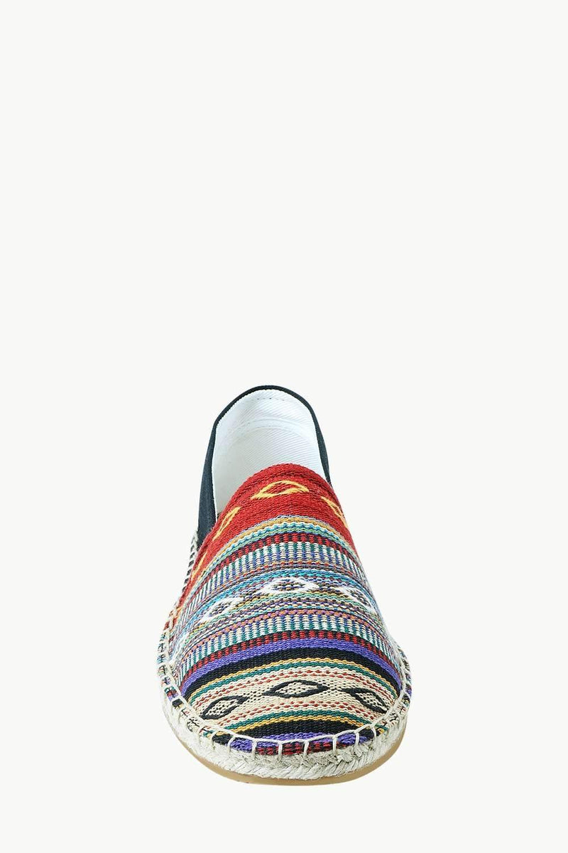 Men's Multi Color Jacquard Embroidered Espadrilles