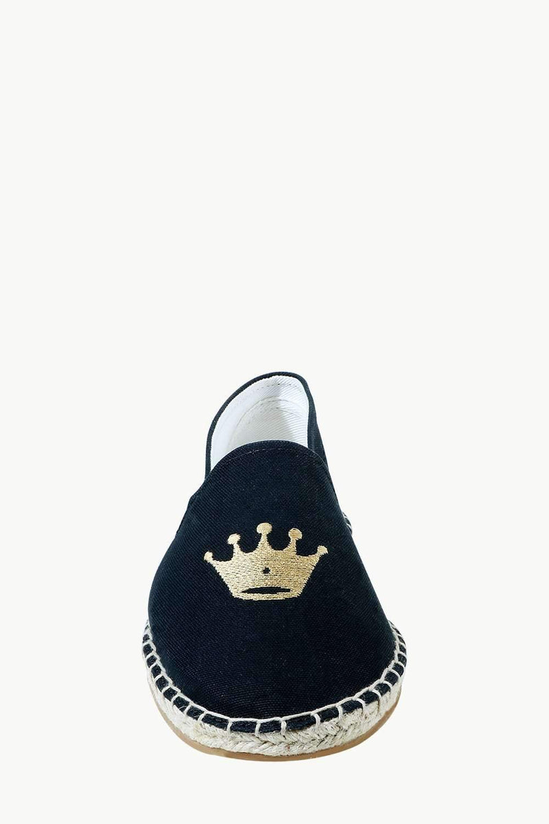 Men's Black Crown Tag Espadrilles