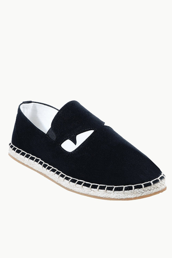 Mens Black Eye Patched Espadrilles