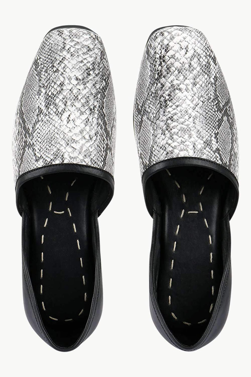 Men's Snake Pattern Faux Leather Juttis