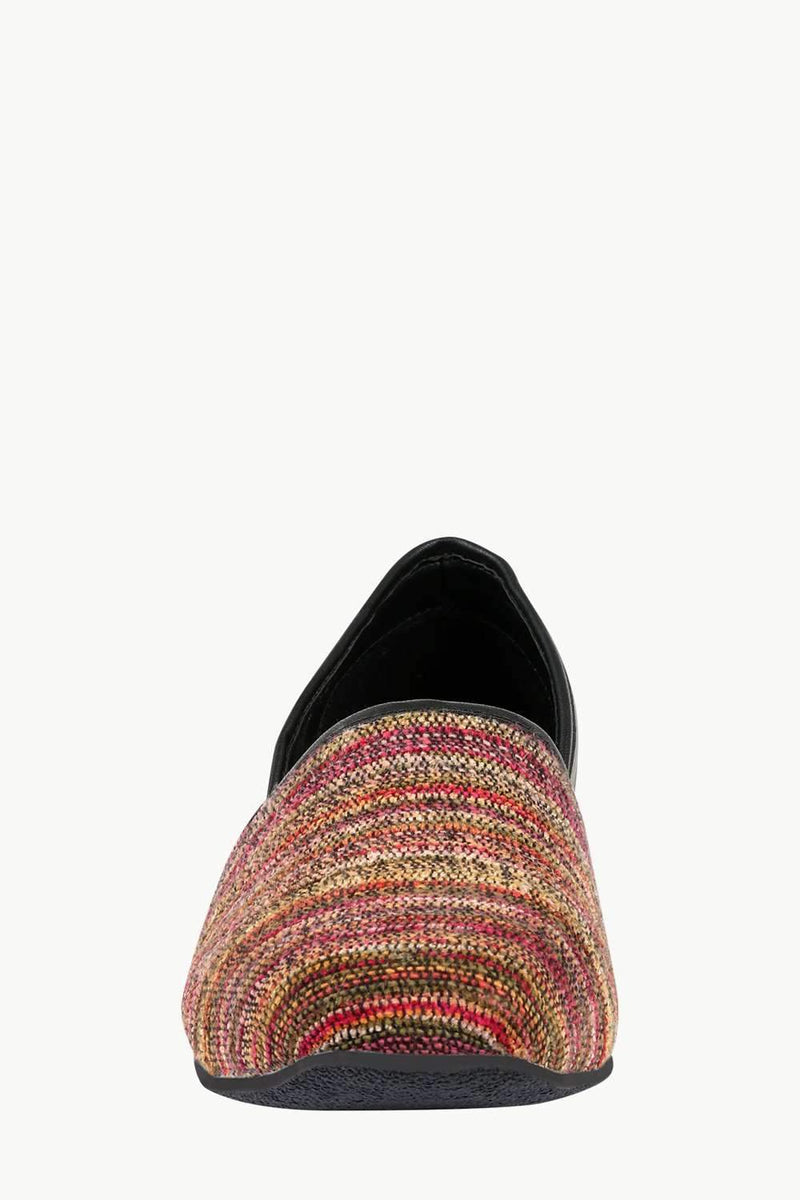 Men's Multicolour Jacquard Slip-On Juttis