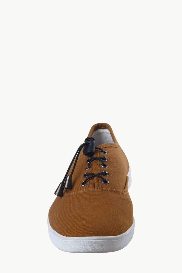 Men's Elastic Tassel Brown Boat Shoes