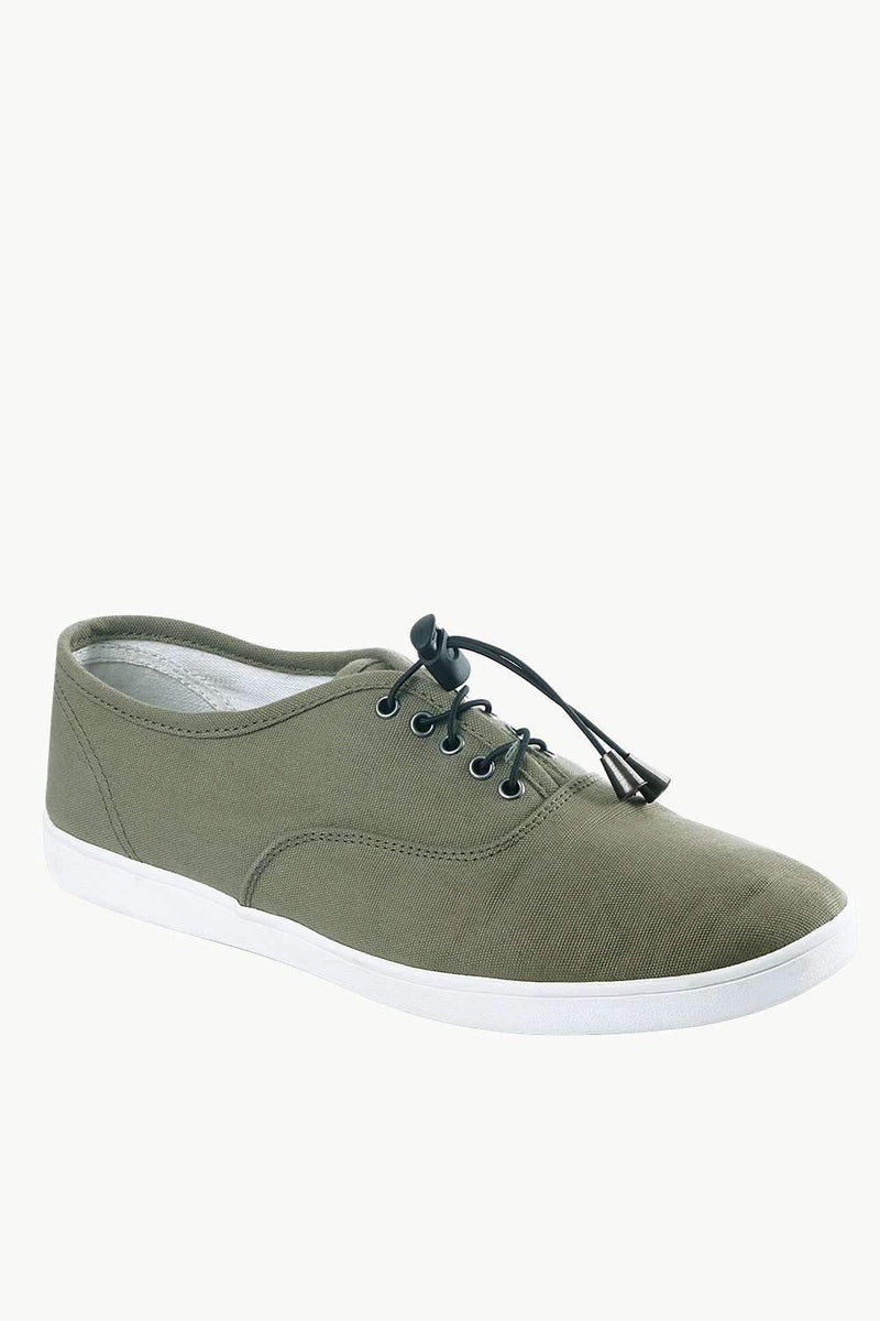 Men's Elastic Tassel Green Boat Shoes
