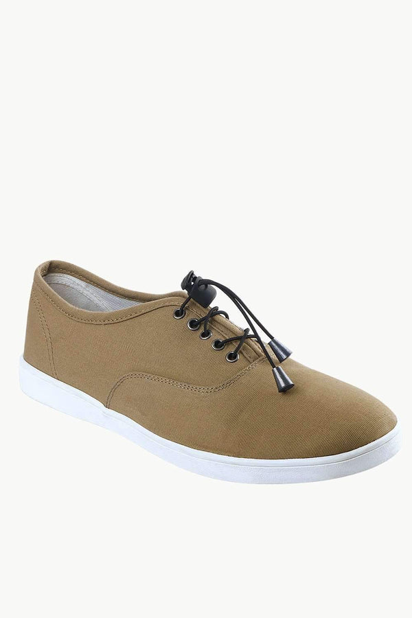 Men's Elastic Tassel Khaki Boat Shoes