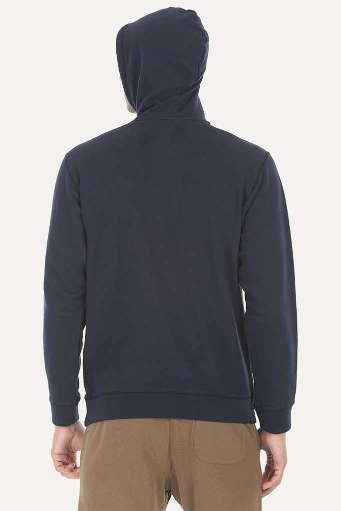 Fleece Popover Hoodie With A Contrast Pocket
