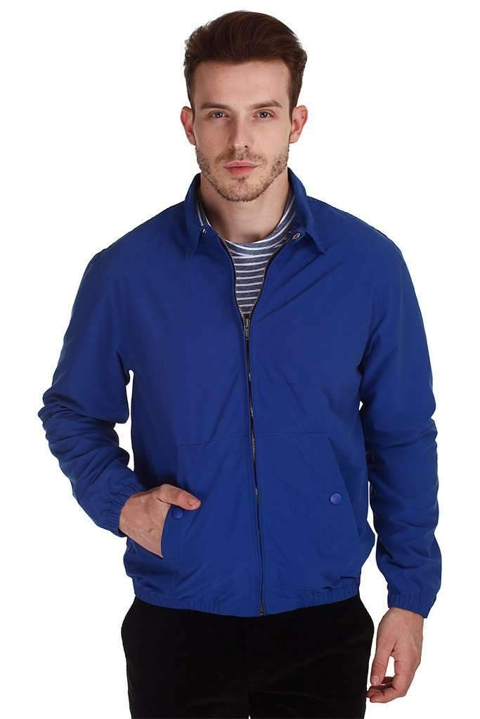 Dark Blue Teflon Coated Nylon Jacket