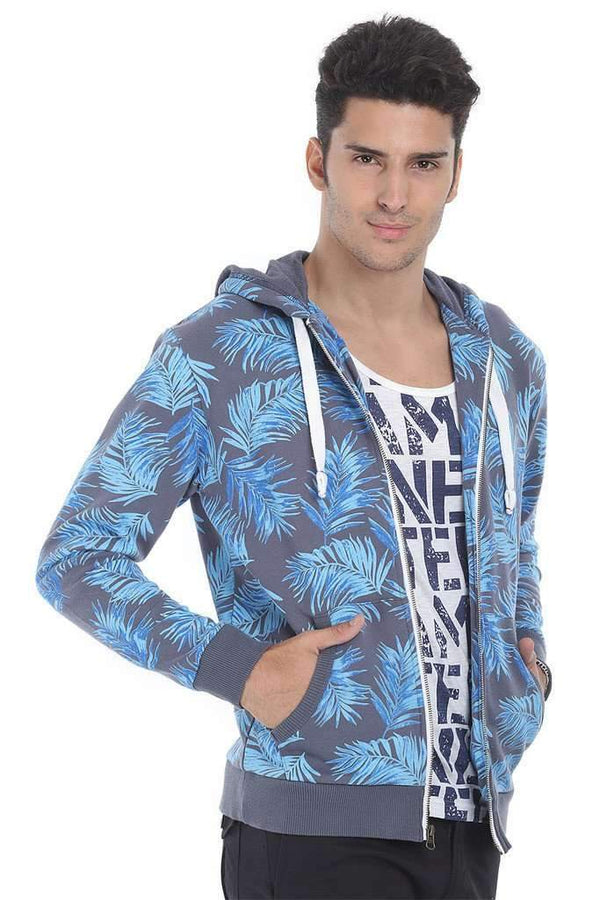 Full Zipper Printed Fleece Hoodie