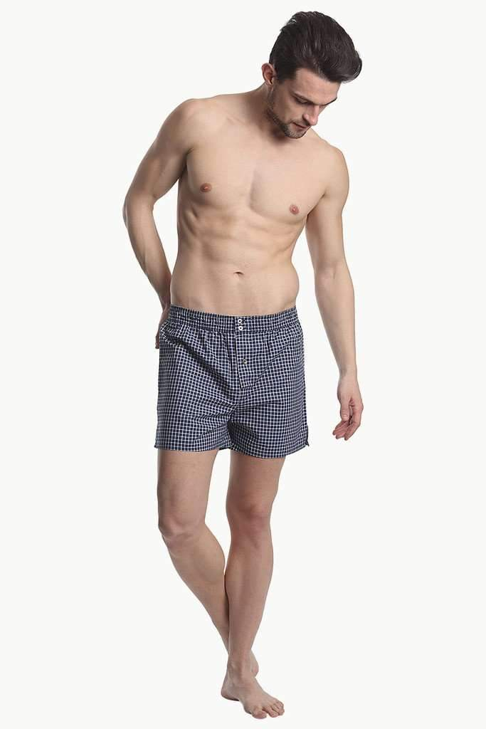 Patterned Boxers With Elastic Waistband And Buttons