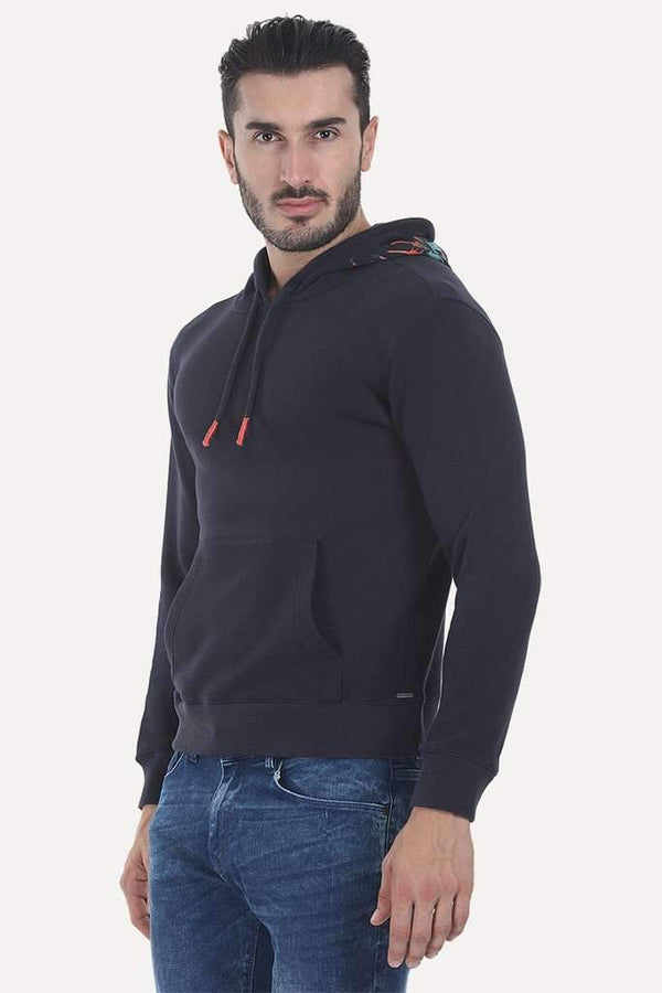 Red Indian Fleece Popover Hoodie