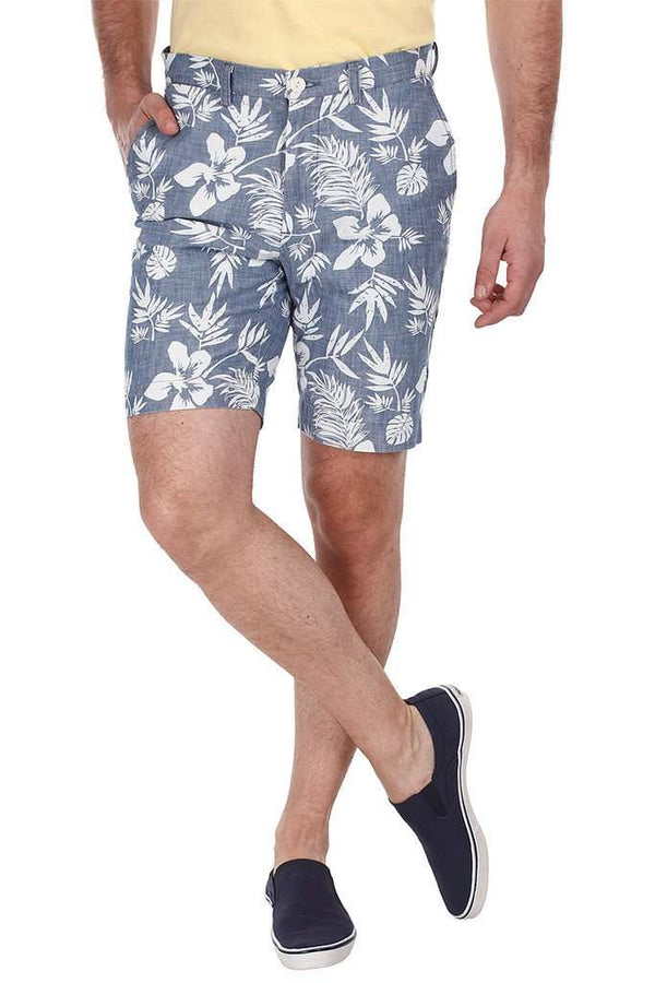 Aloha Printed Denim Shorts