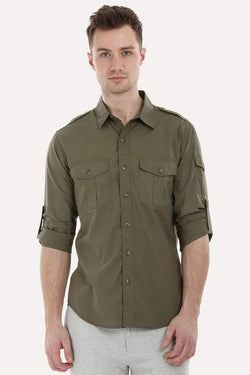 Army Shirt with Epaulets