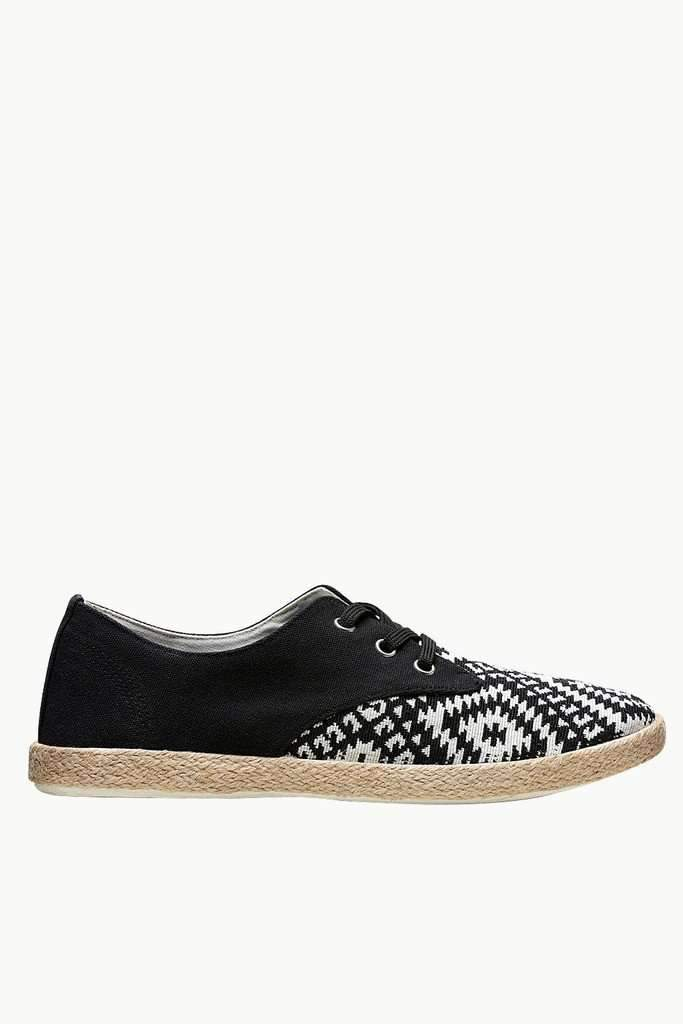 Lace Up Aztec Print Espadrilles