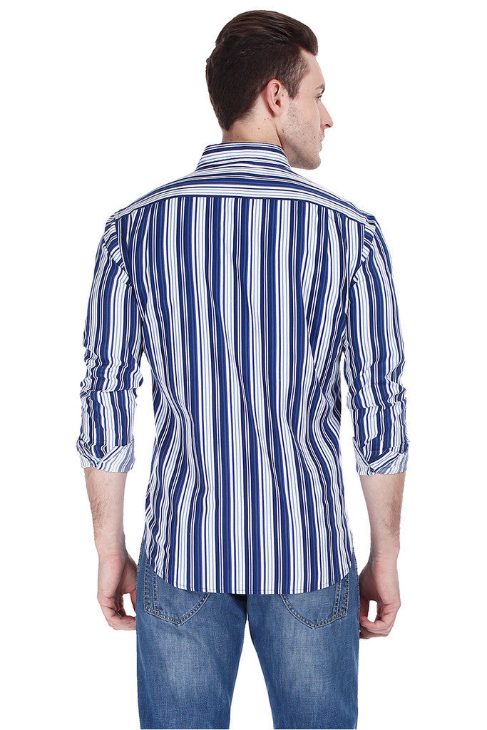 Bar Code Multi Stripe Full Sleeve Shirt