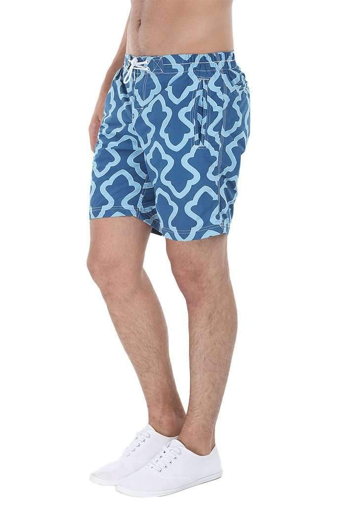 Beach Print Quick-Dry Nylon Swim Shorts