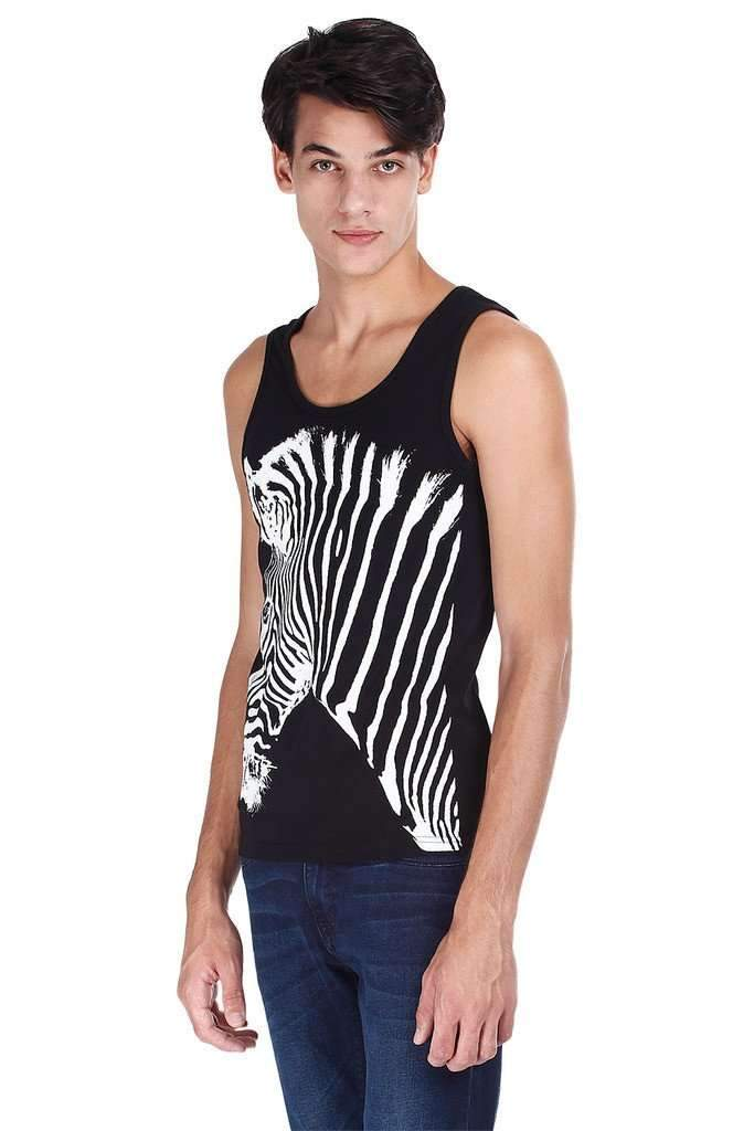 Black And White Zebra Print Tank