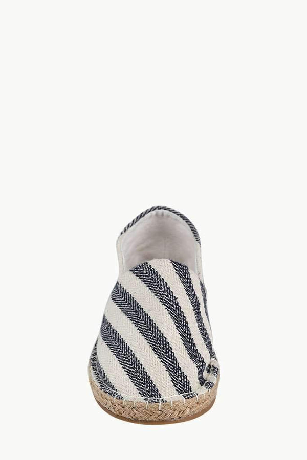 Black Reverse Stripe Slip On