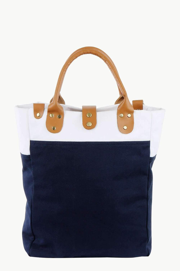 Canvas Colorblock Urban Tote Bag
