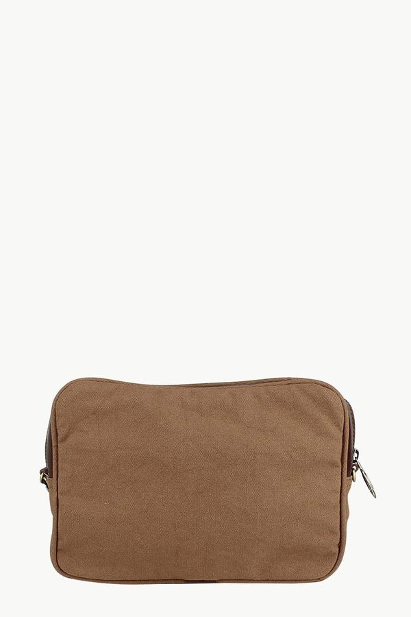 Canvas Mini Toiletry Bag With Zip