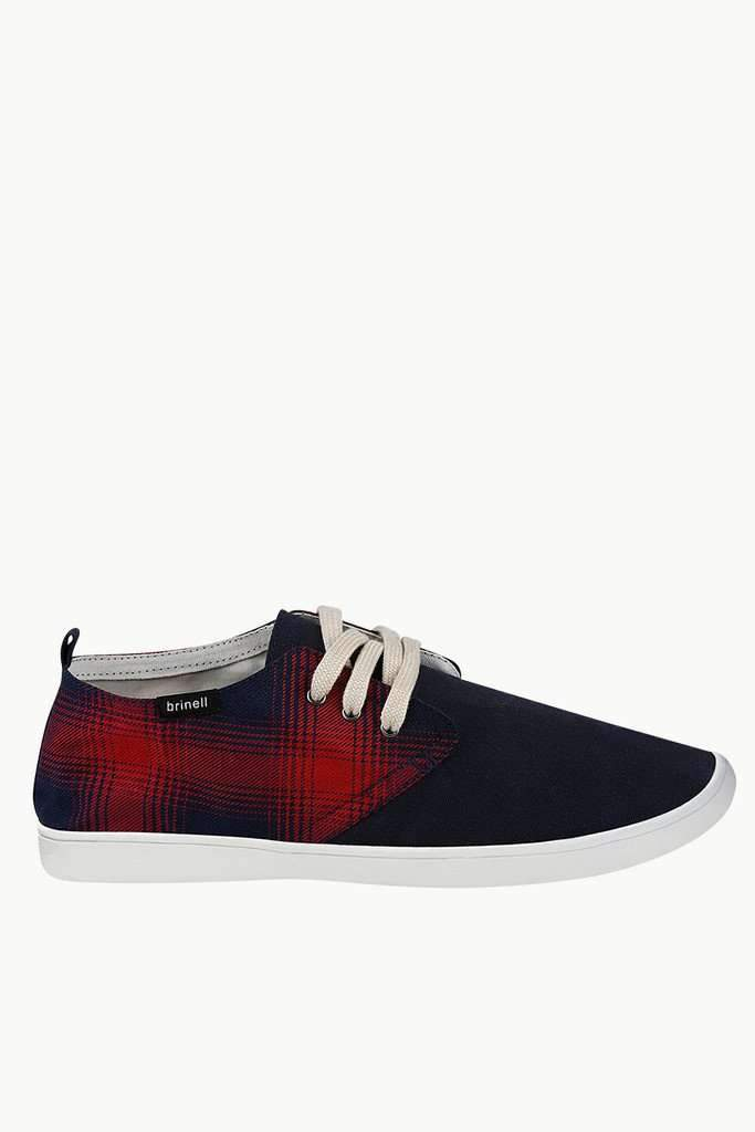 Checkered Lace Up Plimsolls