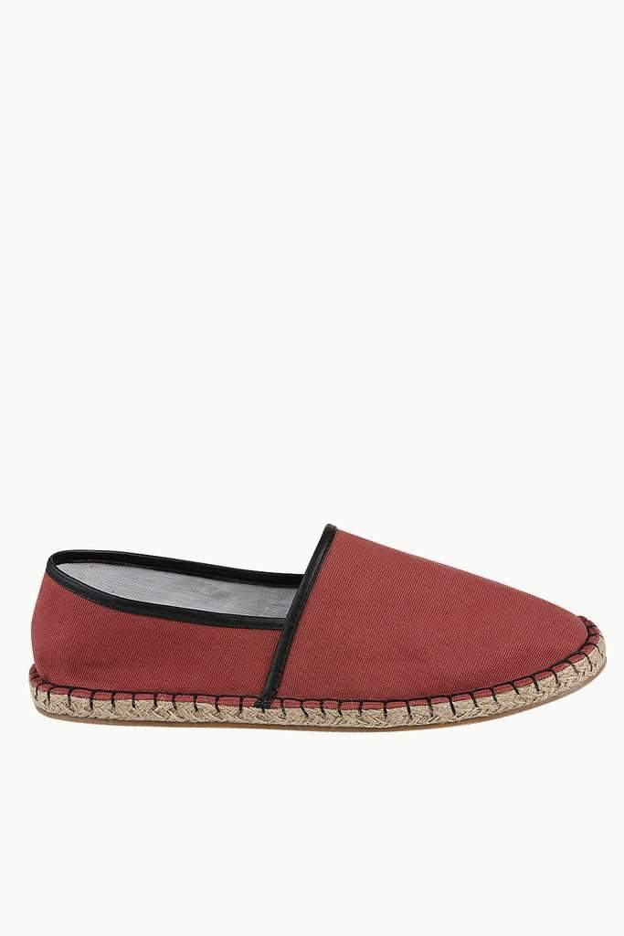 Cherry Red Up Lined Espadrilles