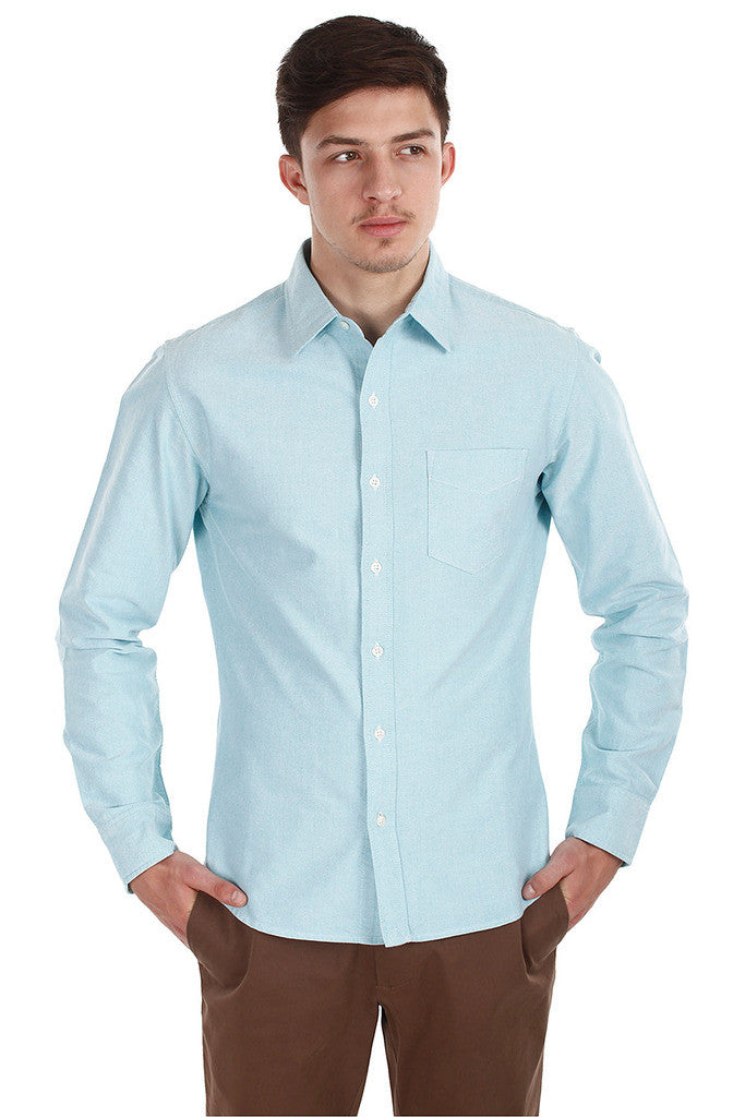 Classic Button Down Enzyme Wash Oxford Shirt