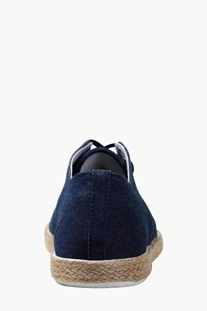 Lace Up Solid Denim Espadrilles