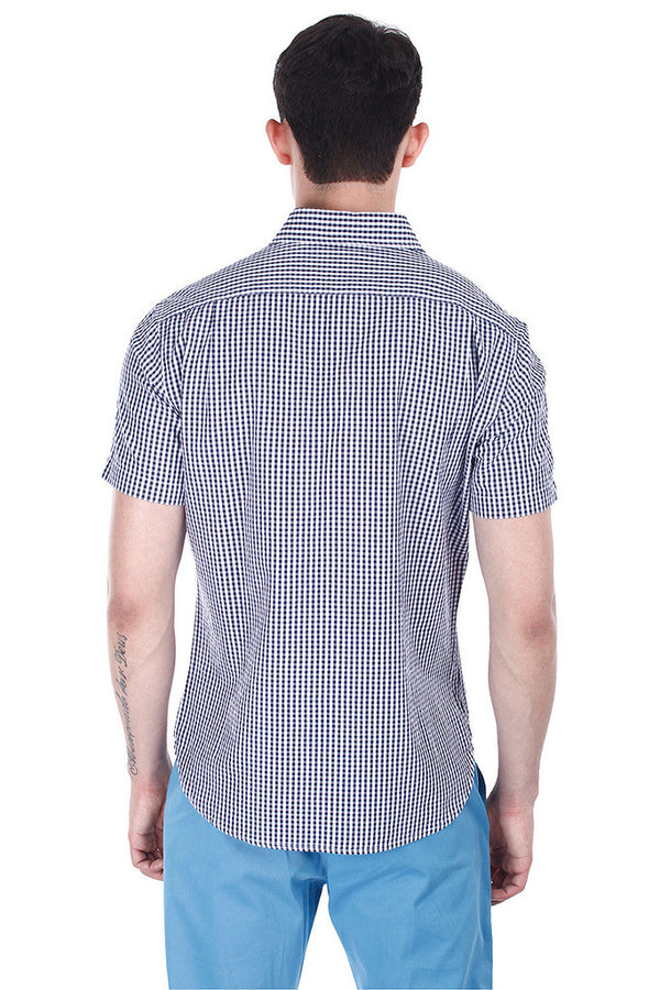 Classic Striped Seersucker Short Sleeve Shirt