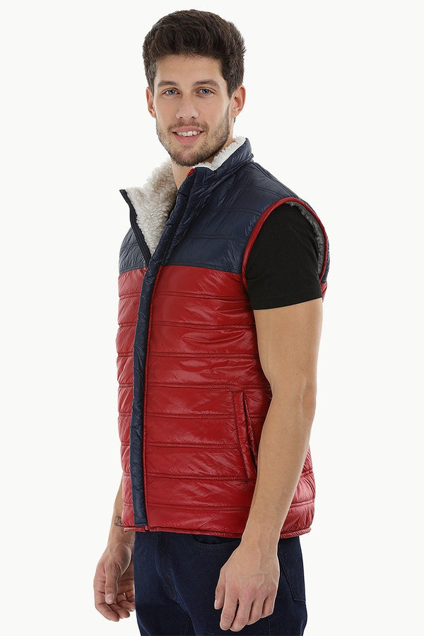 Color-Block Sherpa Lined Jacket