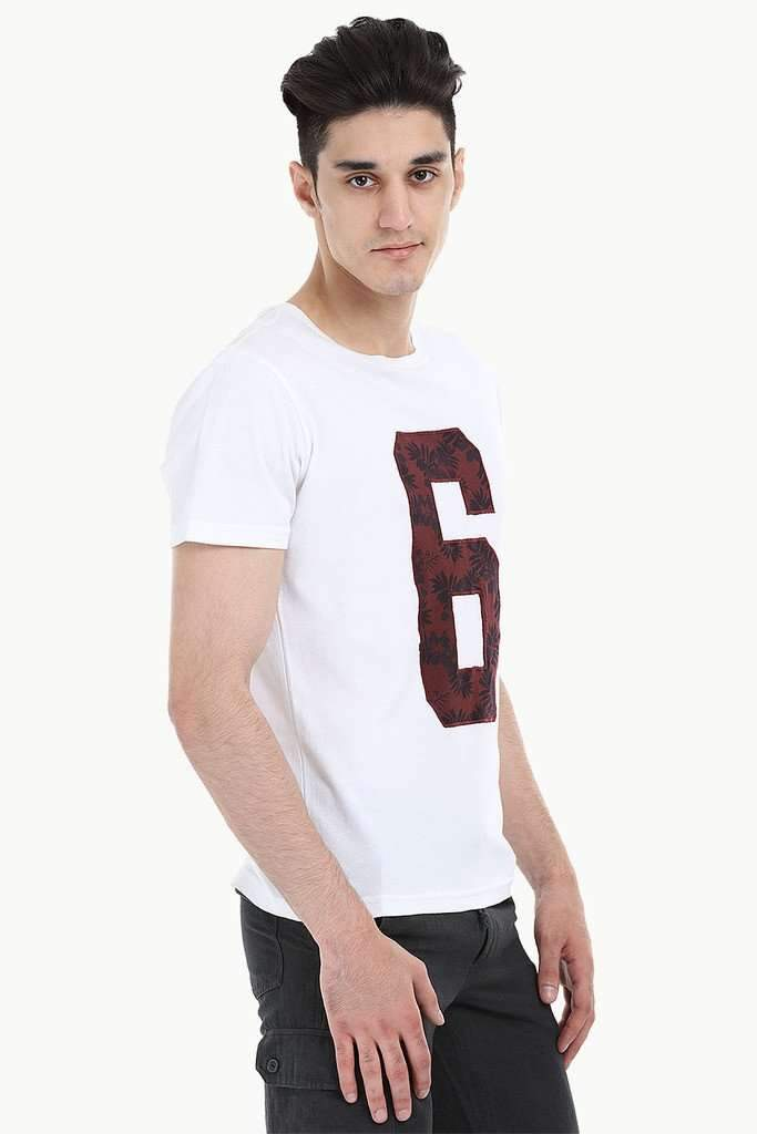 Contrast Number Patch Short Sleeve Tee