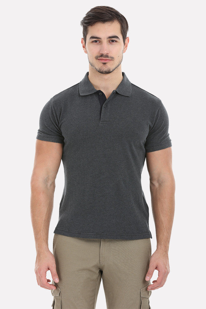 Cotton Heather Pique Soft Polo Tee