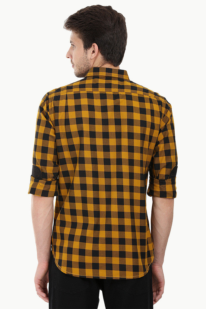 Cotton Twill Plaid Full Sleeve Shirt