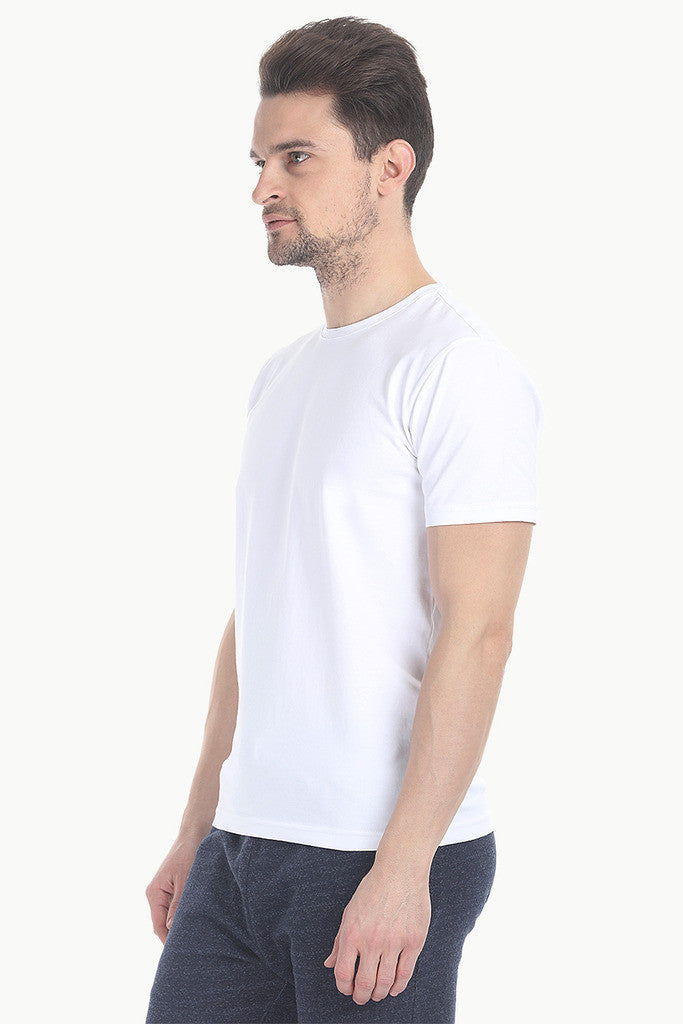 Crew Neck Slight Stretch Solid Tee