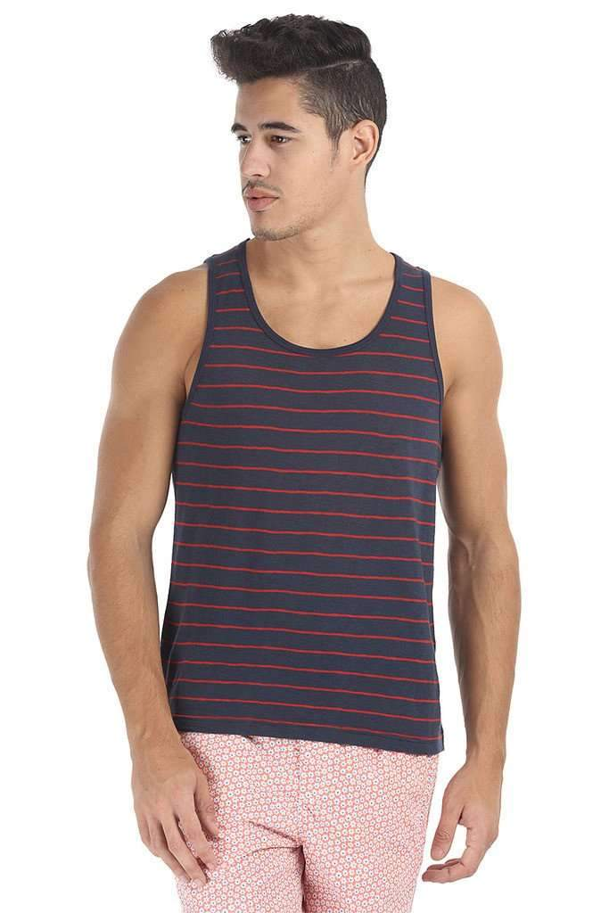 Crew Neck Yarn Dyed Jacquard Tank