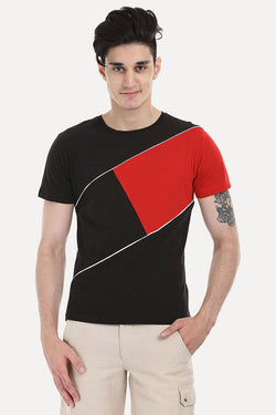 Cross Block Slub Tee