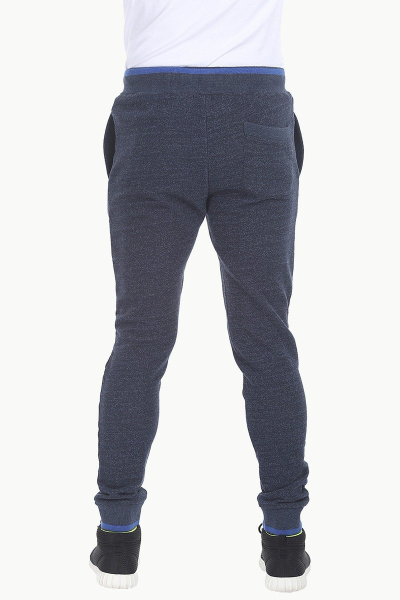 Cuff Jogger Pants with PU Trims