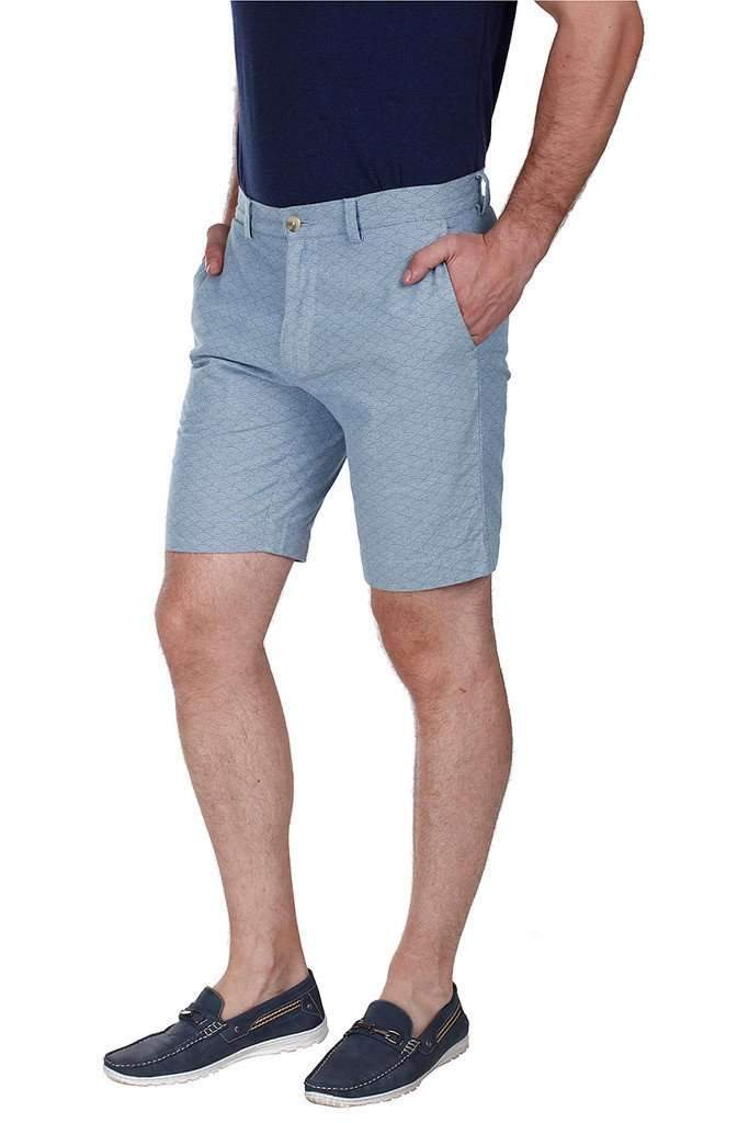 Denim Print Enzyme Washed Shorts