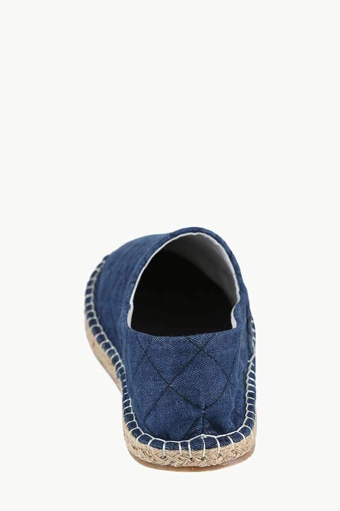 Denim Quilt Stylish Espadrilles