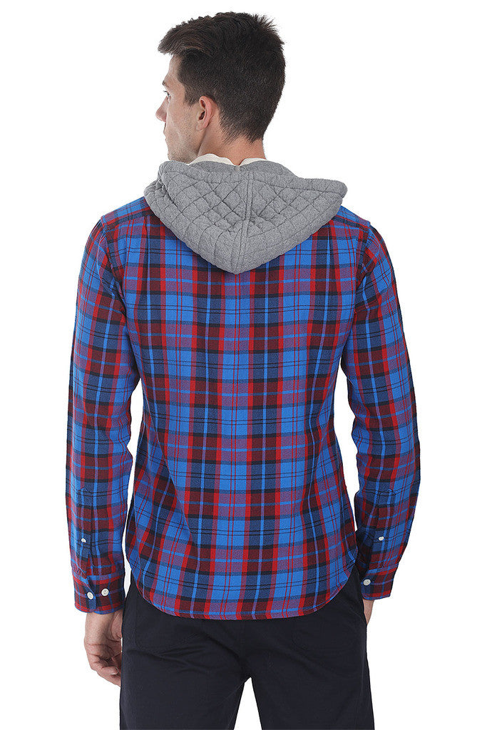 Detachable Hooded Lumberjack Shirt