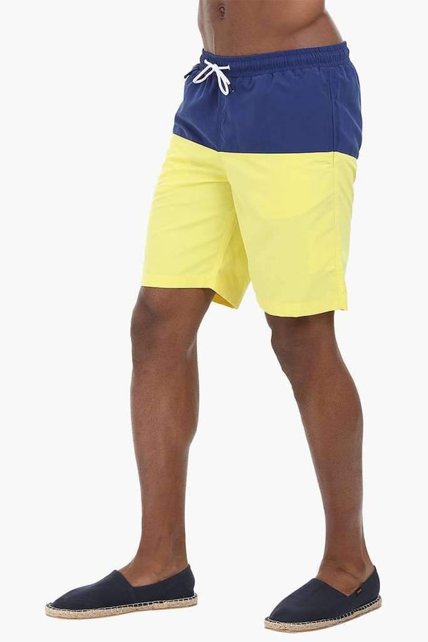 Dual Colorblock Nylon Swimshorts