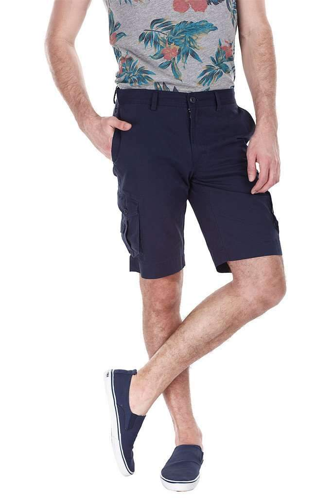 Enzyme Washed Cotton Twill Cargo Shorts
