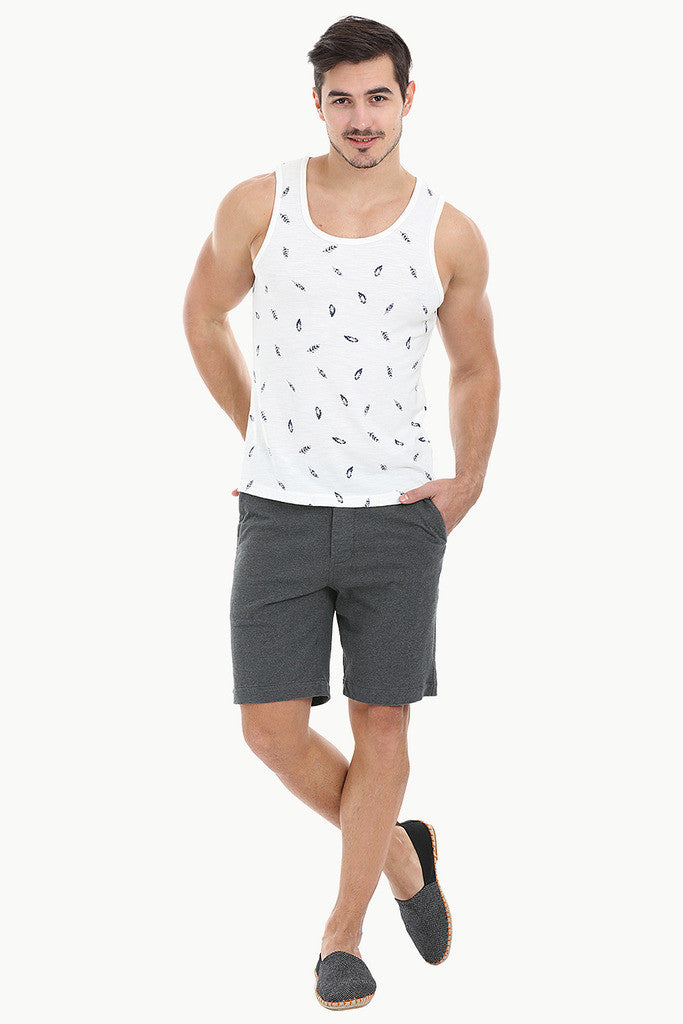 Feather Printed Soft Heather Tank